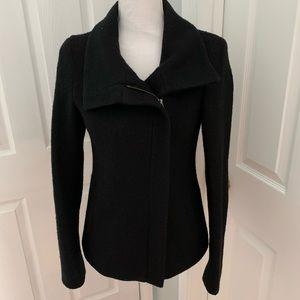 Soia & Kyo Black Wool Boucle Short Coat w/ Zipper
